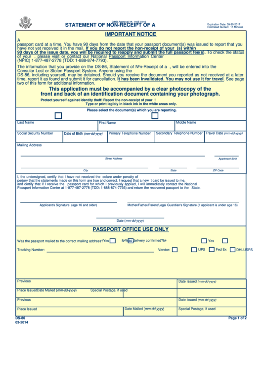 19 Us Passport Form Templates Free To Download In PDF