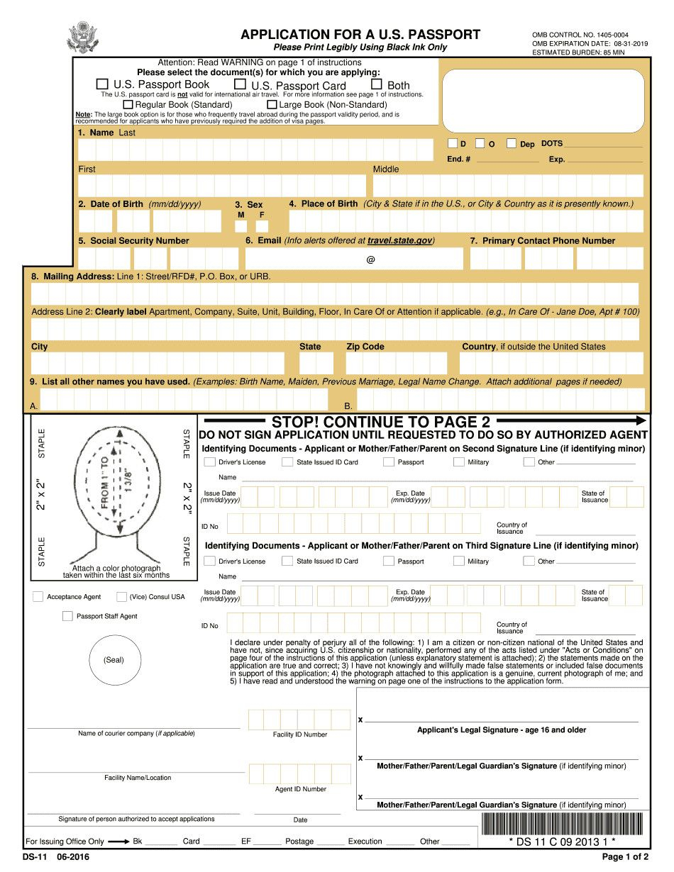 28 Us Passport Form Ds3053 In 2020 Passport Application