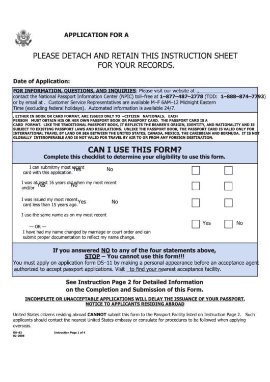 88 Passport Application Form Templates Free To Download In PDF