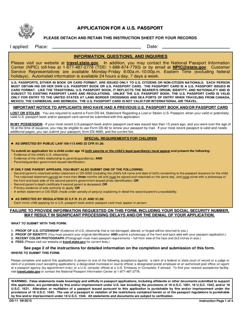 Child Passport Renewal Form 3 Free Templates In PDF