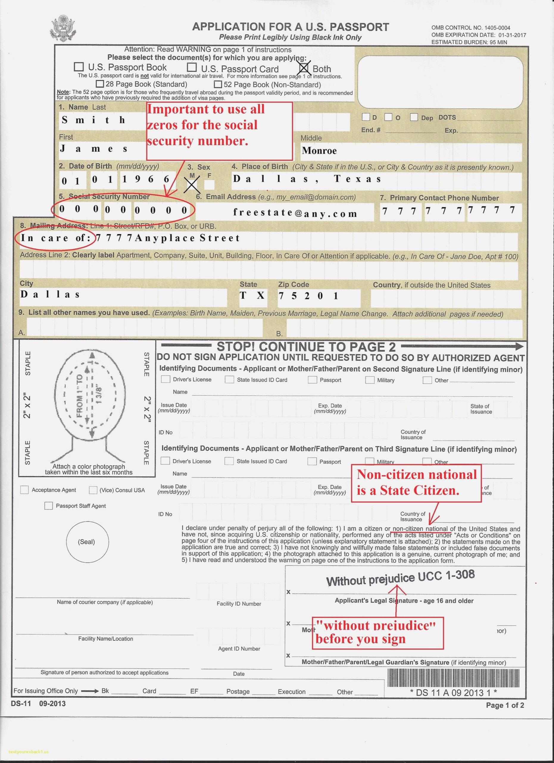 Ds 11 Form For Passport Travelingshana Free Printable