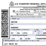 Fillable Passport Renewal Form Expedited Us Passport