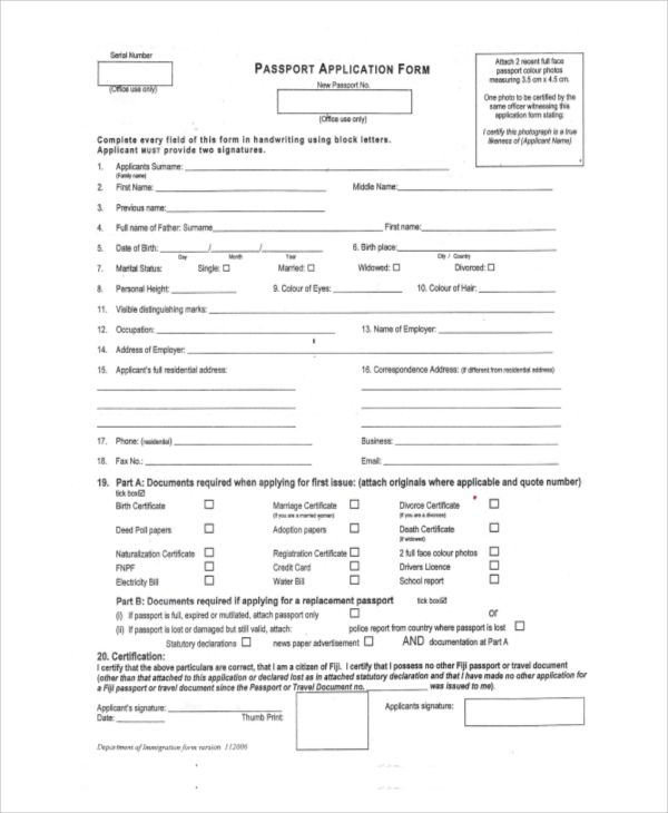 FREE 10 Sample Application Forms In MS Word PDF