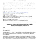 FREE 12 Sample Passport Application Forms In PDF MS