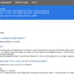 Frequently Asked Questions Passport Appointment System