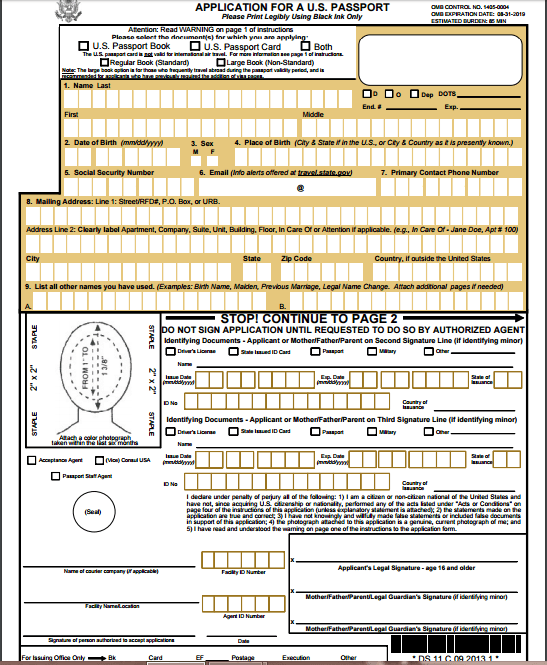 How To Apply For A US Passport Application United States