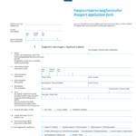 Online Paspoortaanvraagformulier Passport Application Form