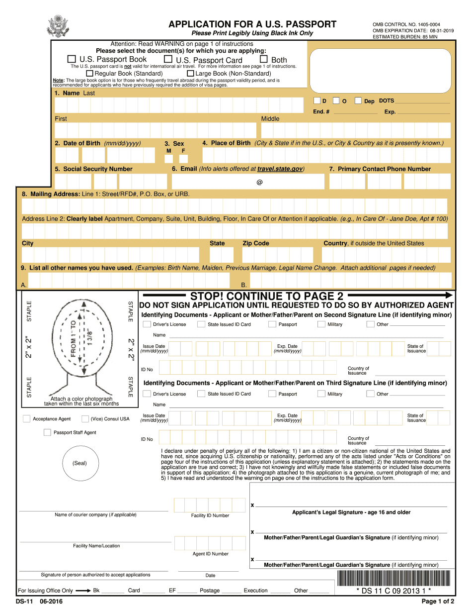 Passport Parental Consent Form Ds 3053 Eforms Free