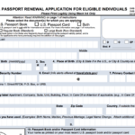 Printable US Passport Renewal Form Passport