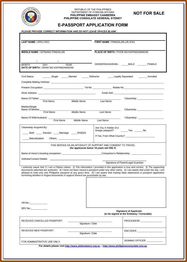 Us Passport Renewal Application Form Ds 11 Form Resume