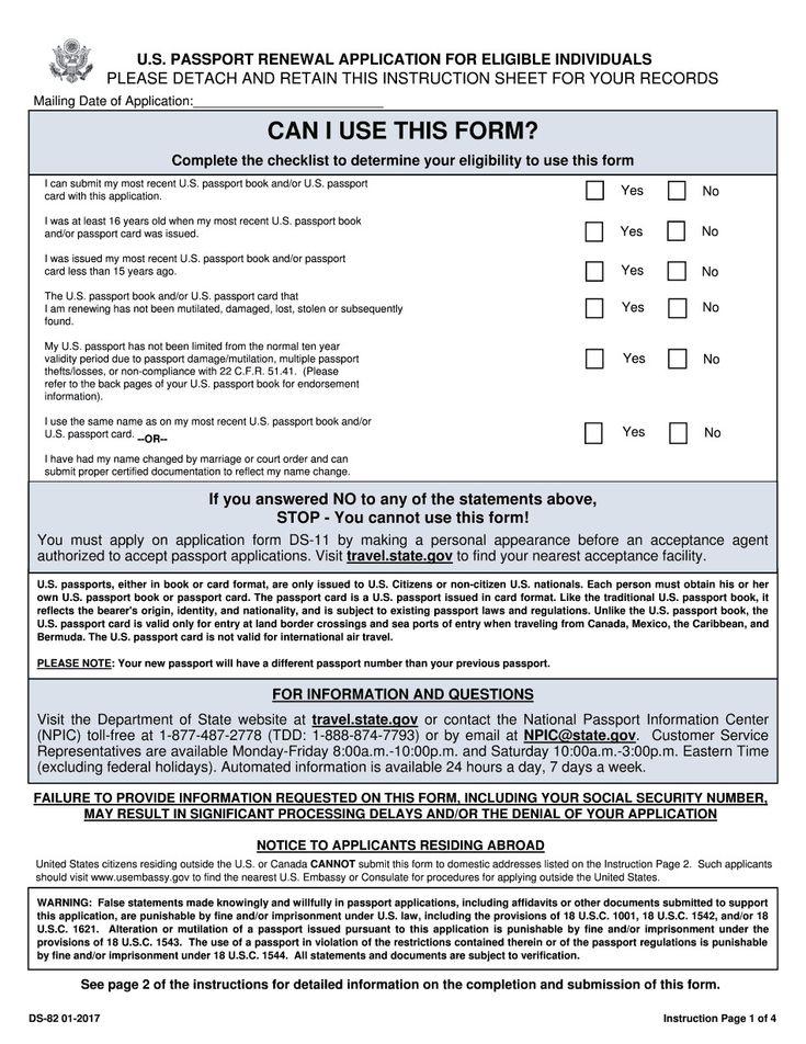 28 Fillable Passport Renewal Form In 2020 Passport
