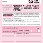 Application For United Kingdom Passport For Applicants