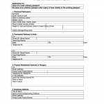 Application Form For Indian Passport Printable Pdf Download