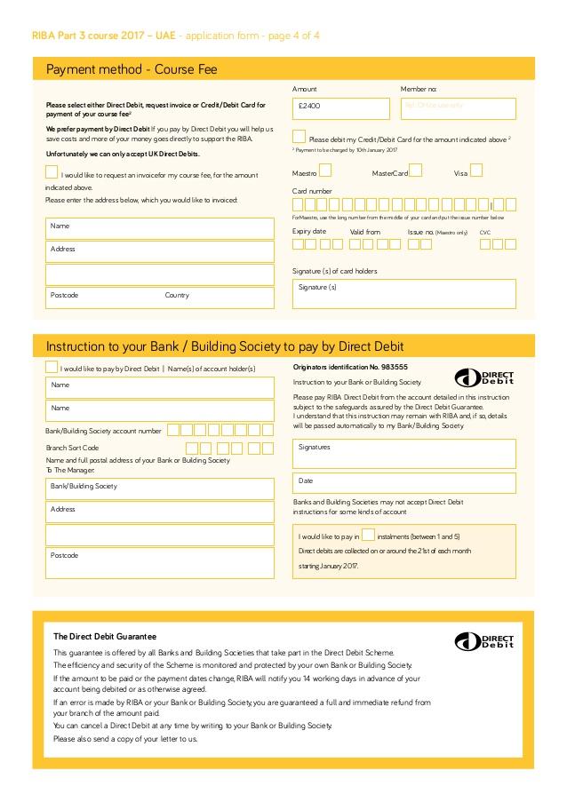 British Passport Application Payment Form