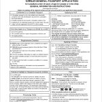 Child Passport Renewal Application Form