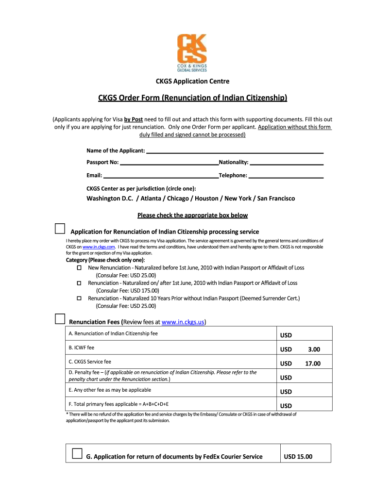 Ckgs Order Form 2020 Fill And Sign Printable Template