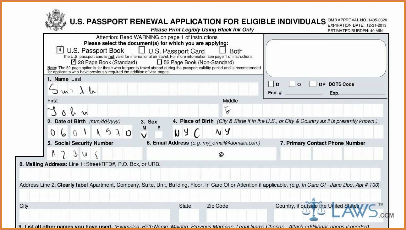 Ethiopian Passport Renewal Application Form In Usa Form
