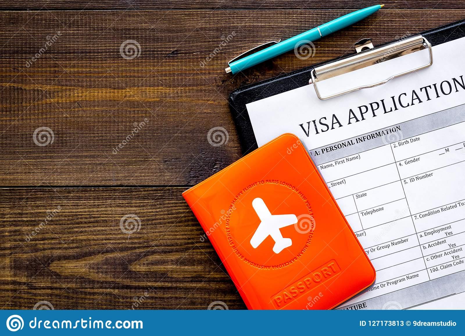 Fill Visa Application Form Empty Blank Near Passport