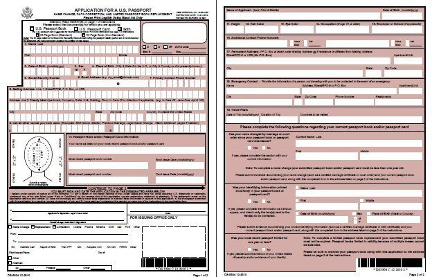Form DS 5504 Name Change Corrections Limited Passport