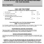 Form Ds 5504 Us Passport Re Application Form Printable