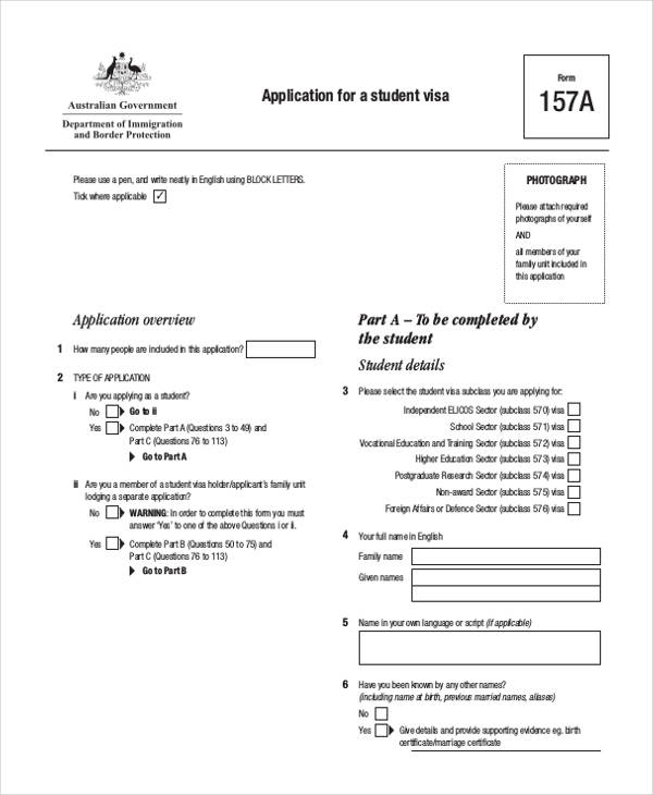 FREE 42 Sample Student Application Forms In PDF MS Word