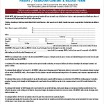 FREE 8 Sample Parent Release Forms In MS Word PDF