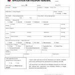 FREE 9 Sample Passport Renewal Forms In PDF MS Word