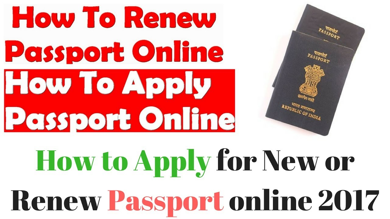 How To Apply For New Or Renew Passport Online YouTube