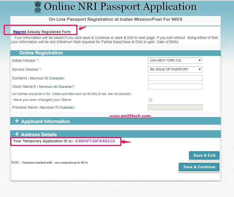 How To Fill NRI Online Application For Indian Passport