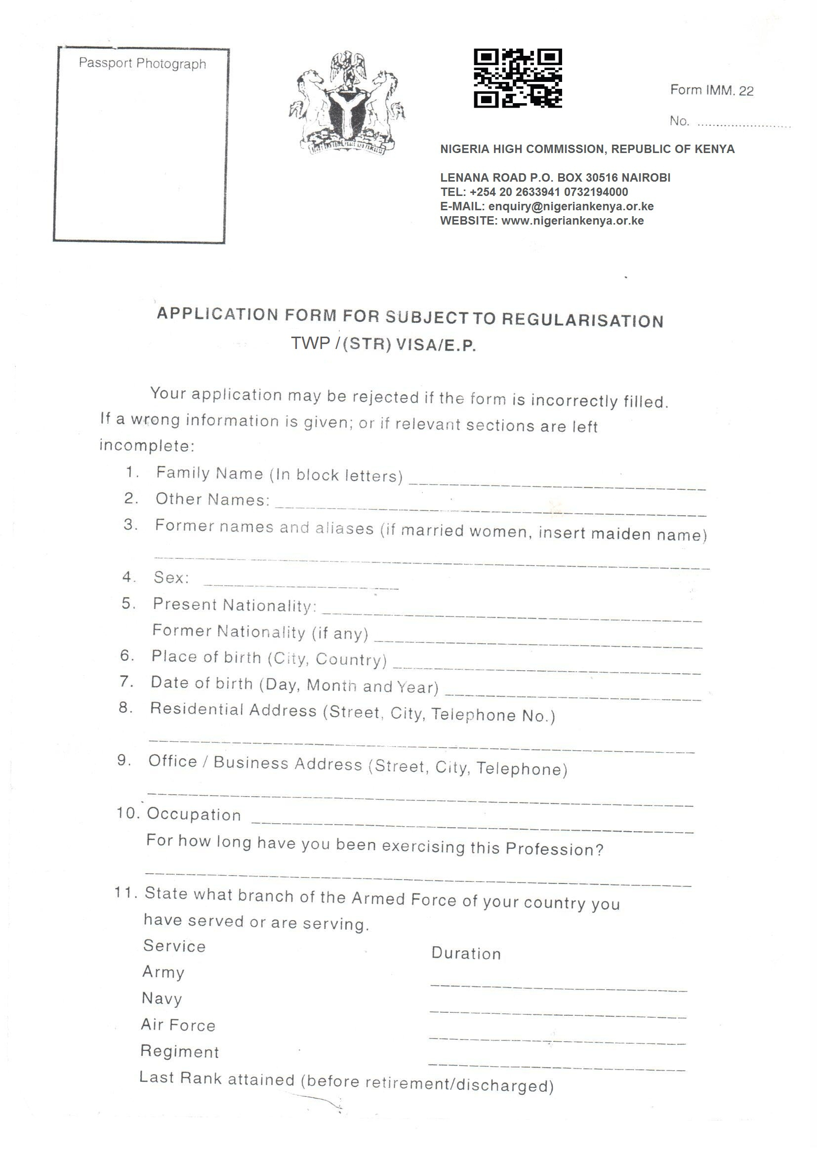Nigerian Passport Renewal Form New York Universal Network
