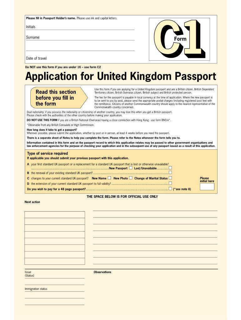 No No Download Needed Needed Passport Form Uk Fill