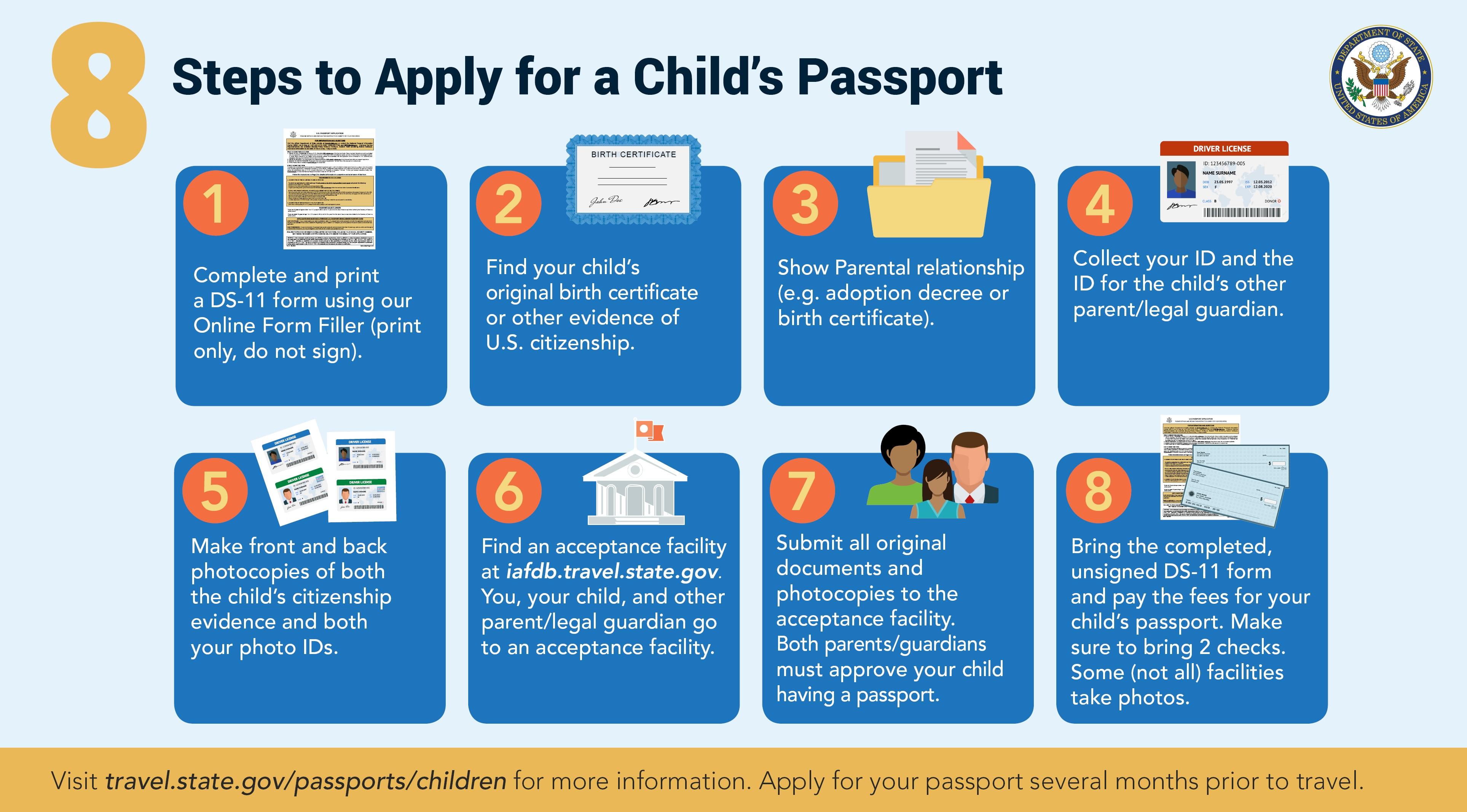 Passaportes Para Menores Embaixada EUA Consulado Em