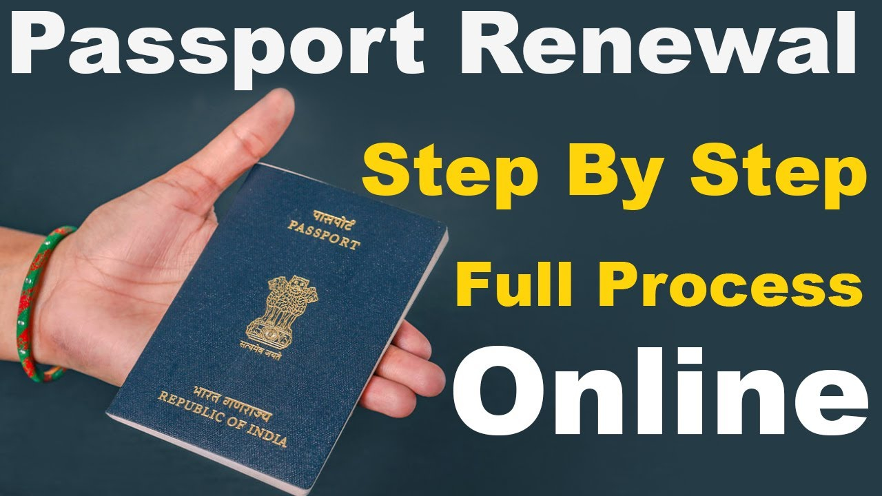 Passport Renewal And Reissue Online Step By Step Full