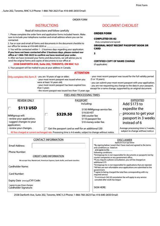 Passport Renewal Form Illinois PrintableForm