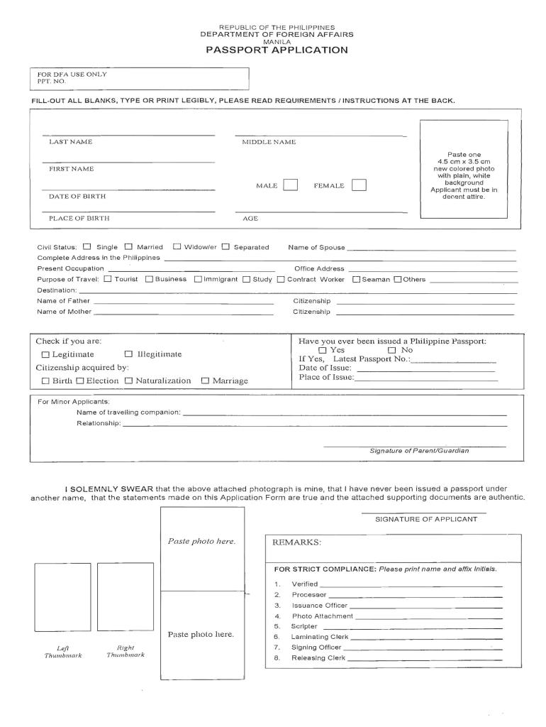 Philippine Passport Renewal Form Pdf 2020 2021 Fill And