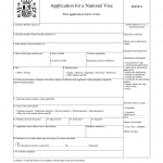 Spain National Visa Application Form Fill And Sign