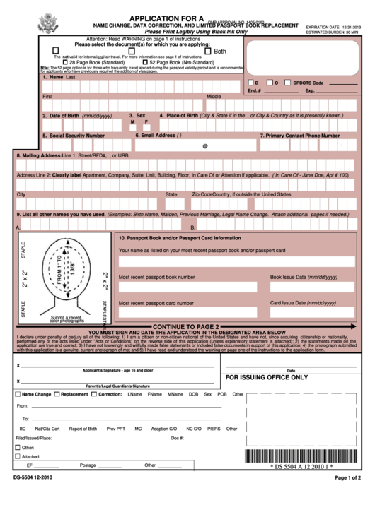 Top 5 Form Ds 5504 Templates Free To Download In PDF Format