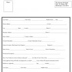 Washington D C Liberia Visa Application Form The